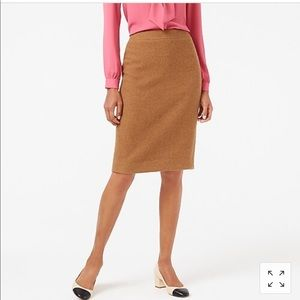 J. Crew The Pencil Skirt wool blend lined